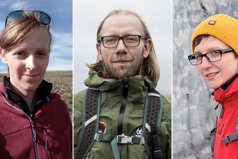 Þau Elín Esther Magnúsdóttir, Davíð Arnar Runólfsson og Kaska Paluch standa að baki We Guide.