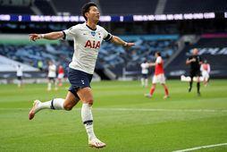 Son Heung-Min var fljótur að jafna metin fyrir Tottenham gegn Arsenal í dag.