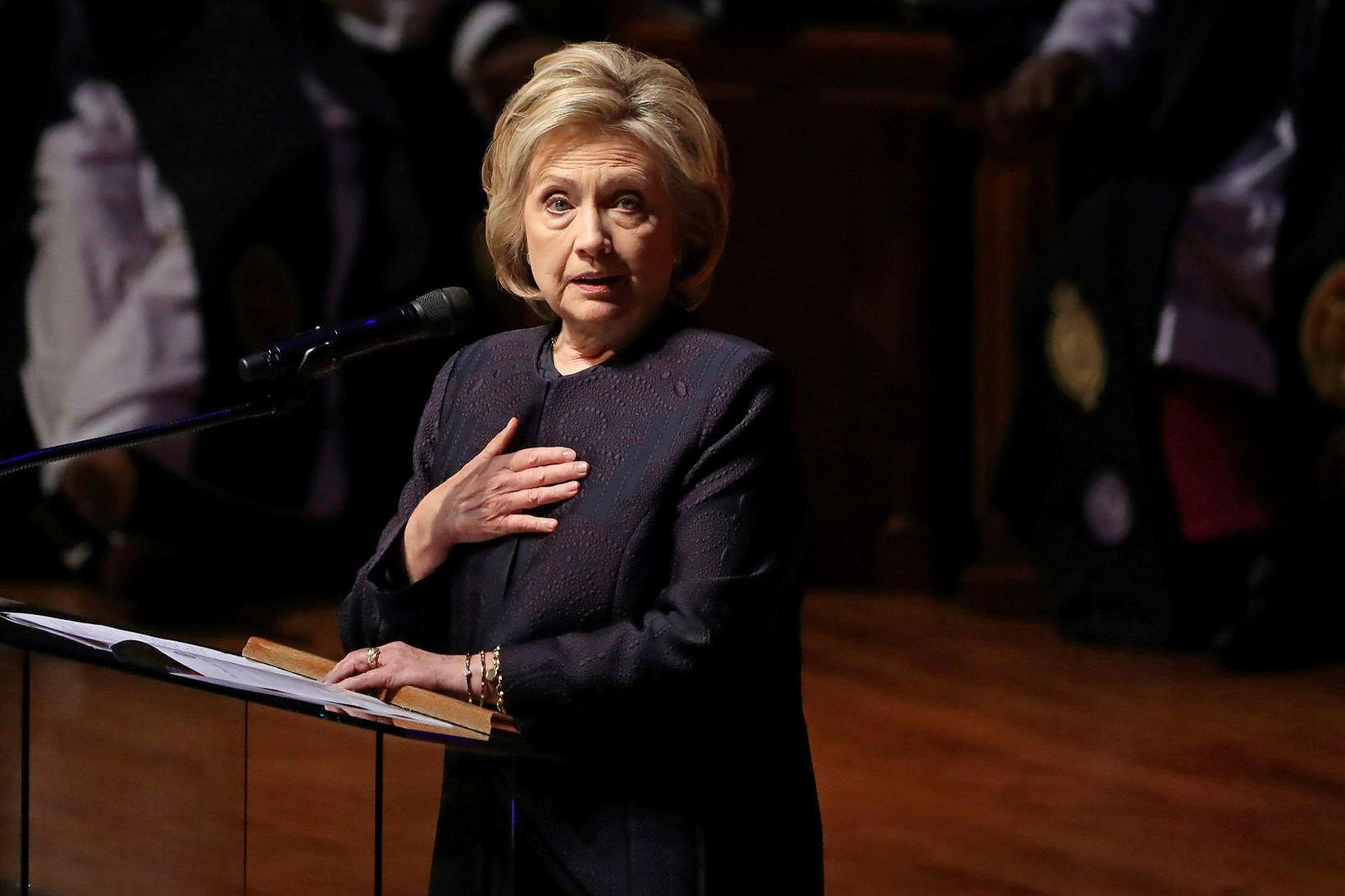 Hillary Clinton tapaði með naumindum fyrir Trump í síðustu forsetakosningum. …