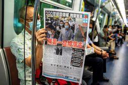 Dagblaðið Apple Daily hefur stutt við lýðræðishreyfingu Hong Kong.