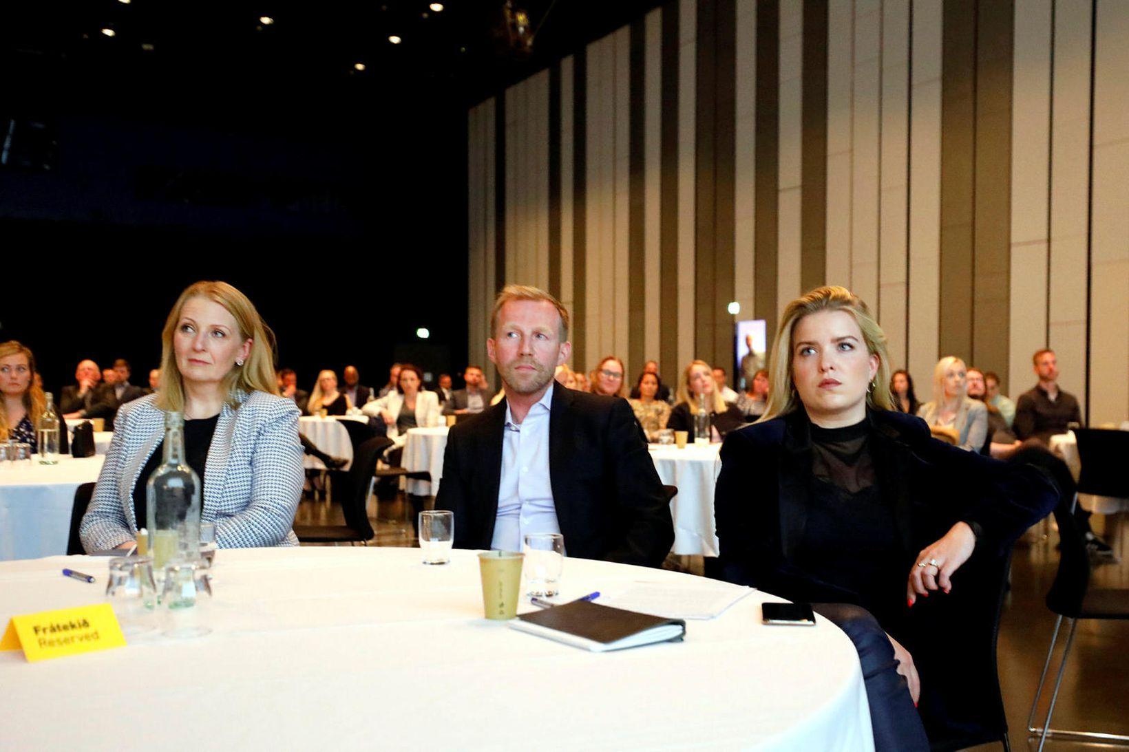 Lilja Björk Einarsdóttir, Benedikt Gíslason og Áslaug Arna Sigurbjörnsdóttir.
