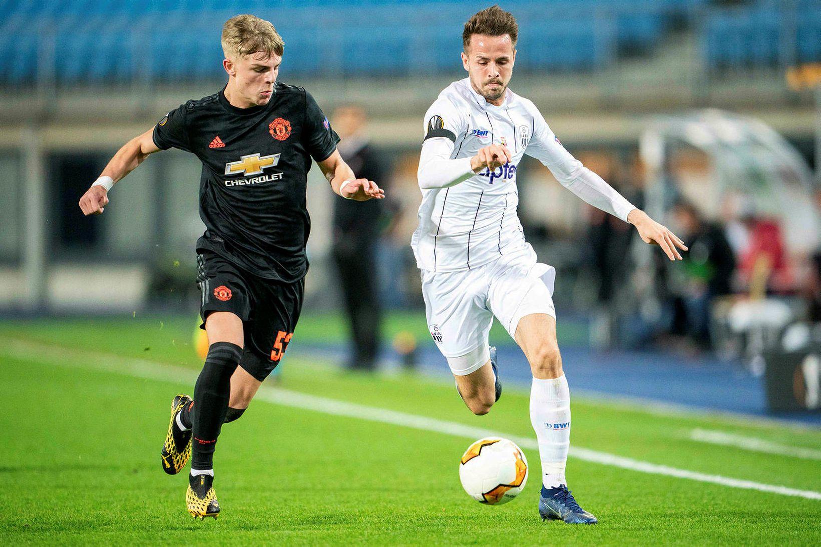 LASK mætti Manchester United í Evrópudeildinni í mars.