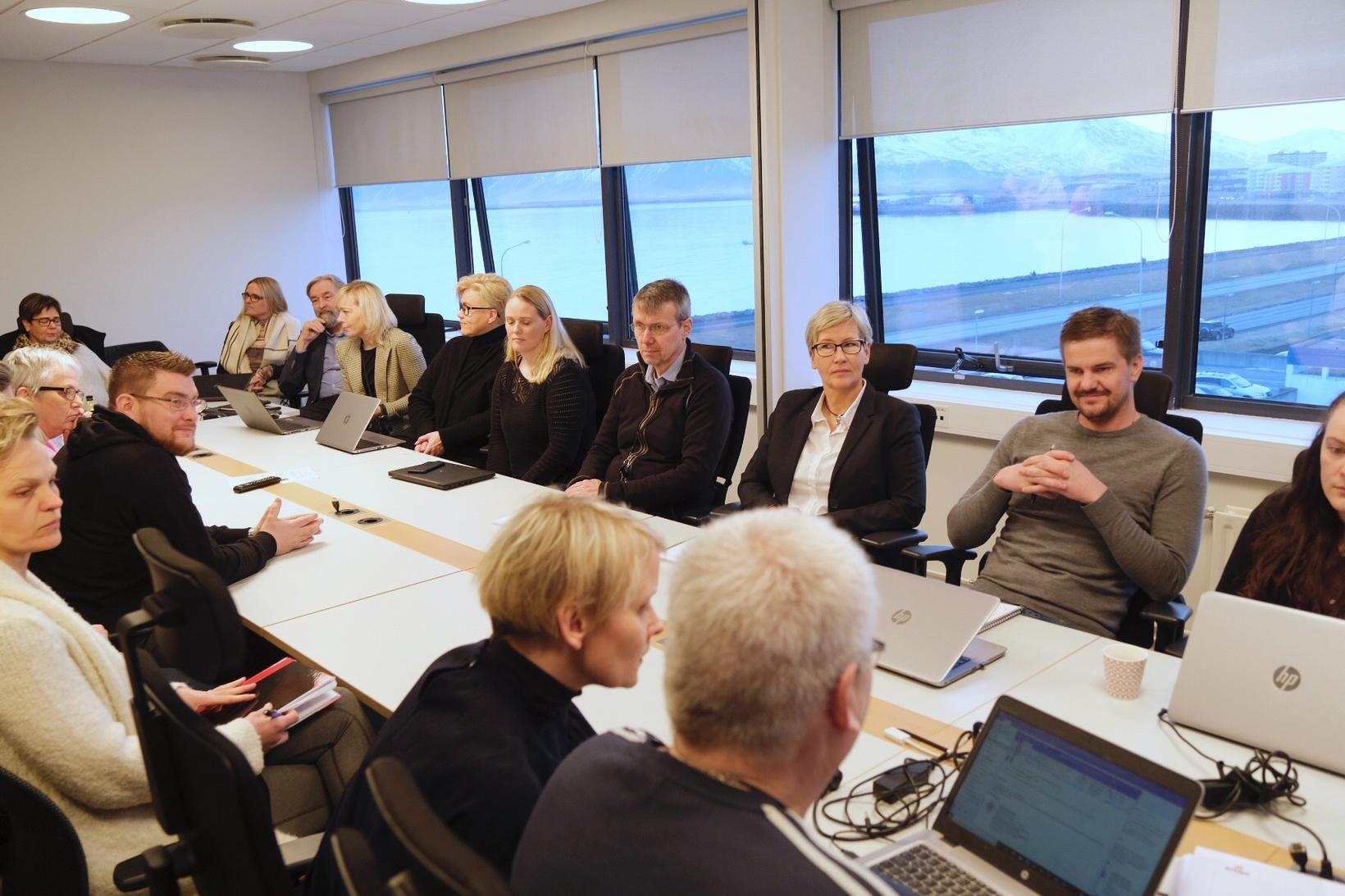 Frá fundi Eflingar og Reykjavíkurborgar í síðustu viku.