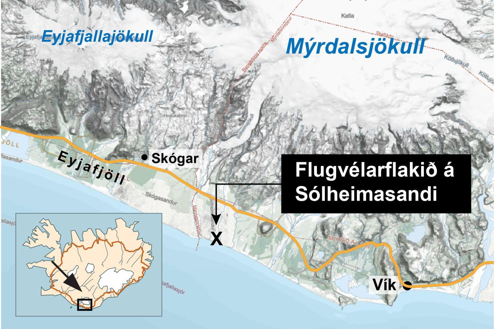 Tvö lík, af karli og konu, fundust á Sólheimasandi í …