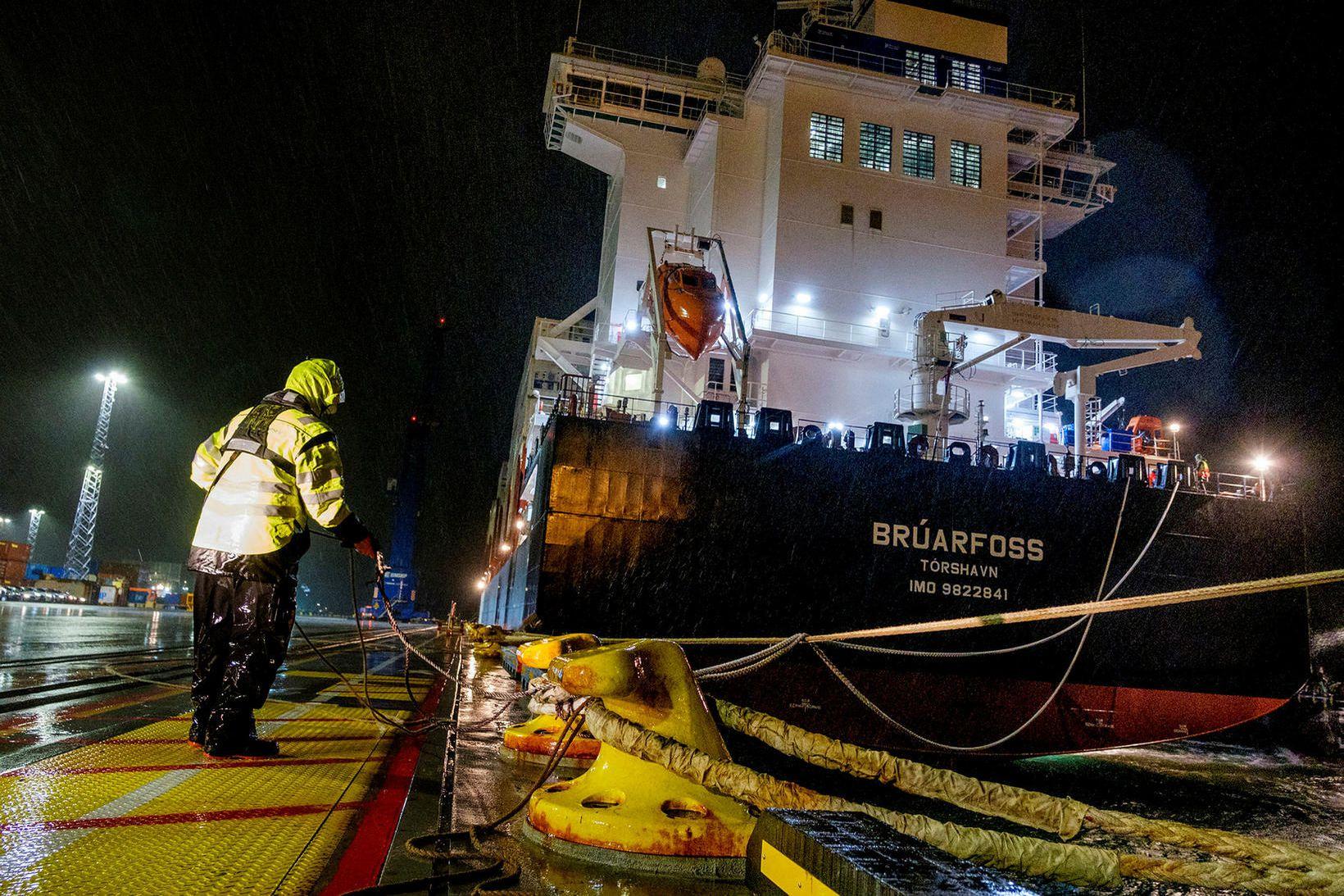 Brúarfoss, skip Eimskips, er skráð í Færeyjum. Samgöngu- og sveitarstjórnarráðherra …
