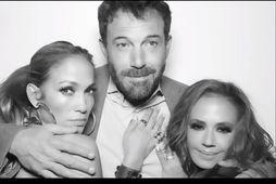 Jennifer Lopez og Ben Affleck ásamt Leuh Remini.