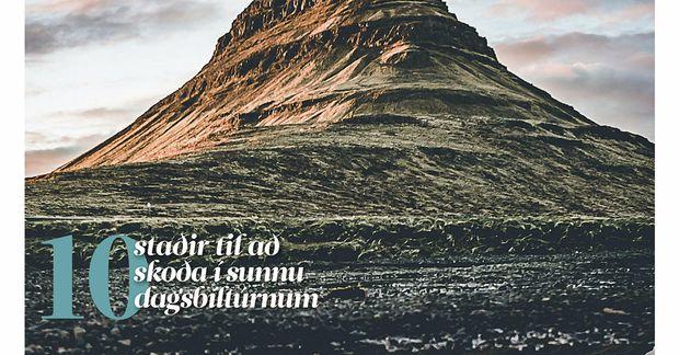 Forsíða fyrsta ferðablaðs Morgunblaðsins.
