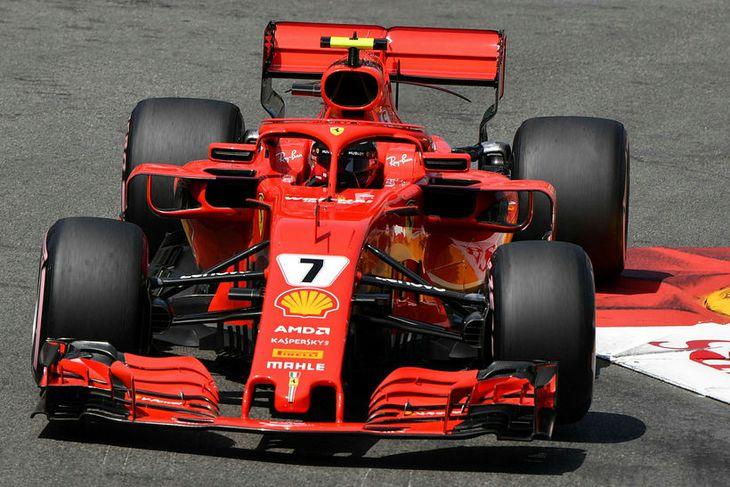 Kimi Räikkönen mistókst í síðustu tímatilrauninni og varð að sætta sig við fjórða sætið.