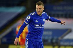 Jamie Vardy kom Leicester á bragðið í kvöld.