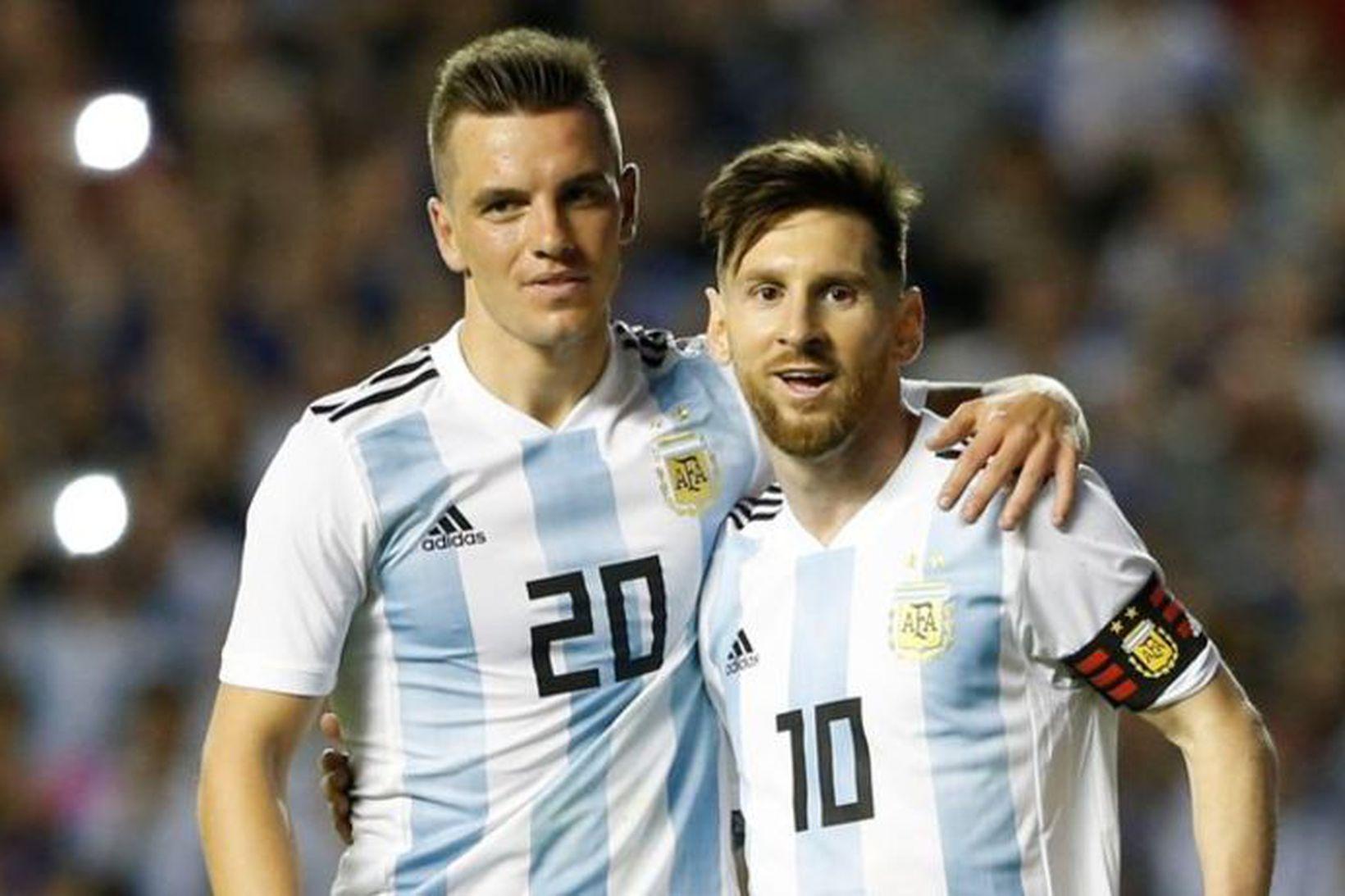 Giovani Lo Celso með Messi vini sínum.