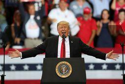 Donald Trump á kosningaviðburði í Flórida.