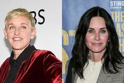 Ellen DeGeneres dvelur tímabundið í húsi Courteney Cox.