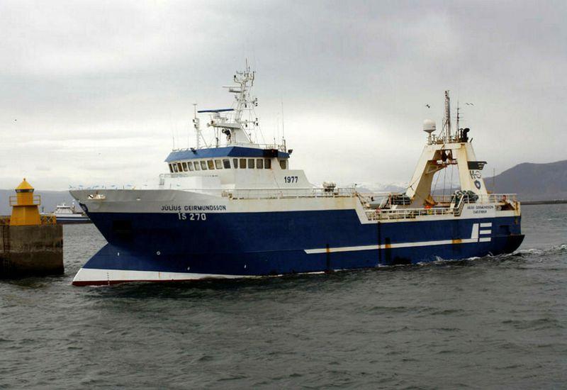 The trawler Júlíus Geirmundsson.