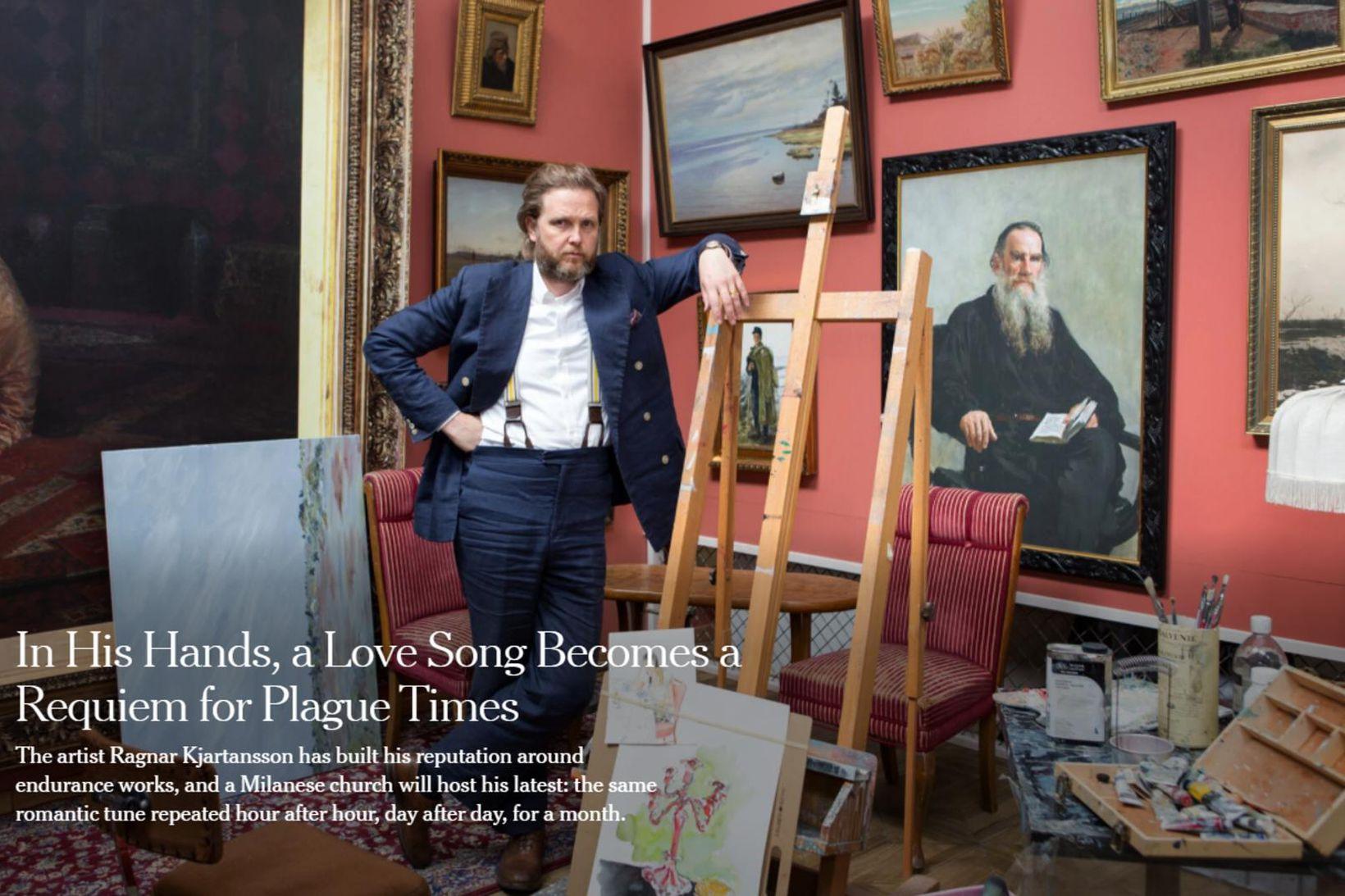 Fjallað er um Ragnar Kjartansson í New York Times í …