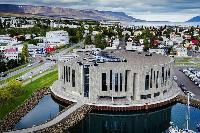 The music hall at the centre of Akureyri.