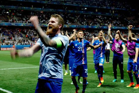 Aron Einar Gunnarsson was made famous for both his skills in football, and his beard.