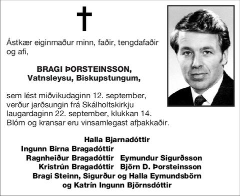 Bragi Þorsteinsson,
