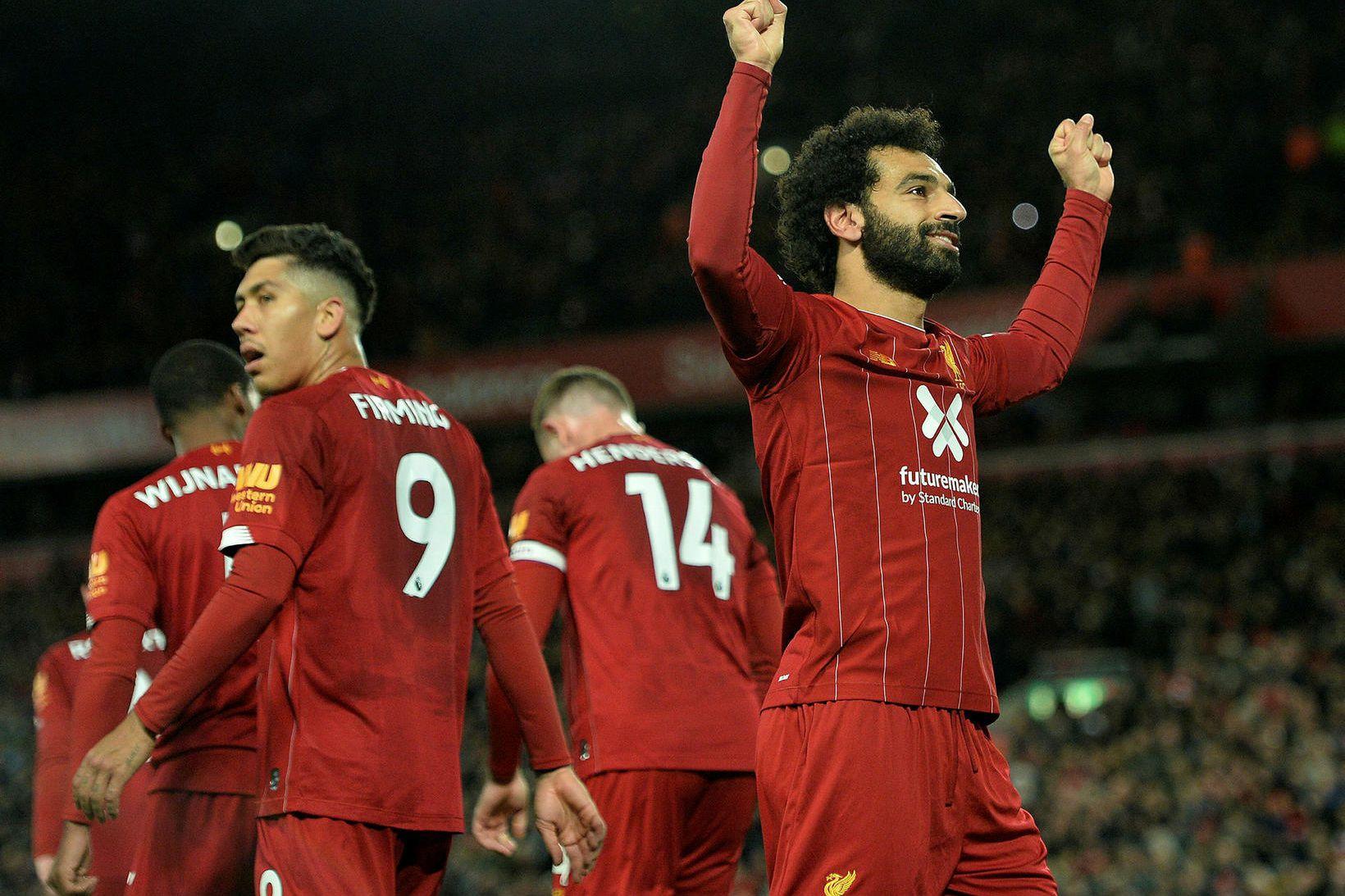 Liverpool getur náð níu stiga forskot á Manchester City á …