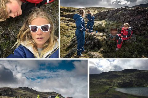 Paltrow took her children on an Iceland adventure this summer.