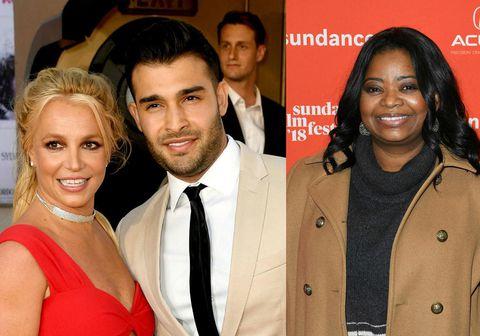 Leikkonan Octavia Spencer hefur beðið nýtrúlofaða parið Britney Spears og Sam Asghari afsökunar á ummælum sínum.