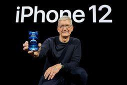 Tim Cook kynnir nýjustu afurð Apple. Hann stýrir því fyrirtæki sem telst verðmætasta vörumerki í …