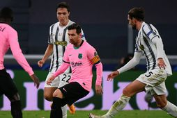 Lionel Messi og félagar fögnuðu sigri.