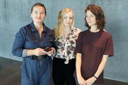 Marta Goðadóttir, Snædís Baldursdóttir og Sara McMahon.