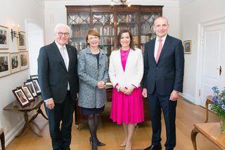 Frank-Walter Steinmeier, Elke Büdenbender, Eliza Reid og Guðni Th. Jóhannesson.