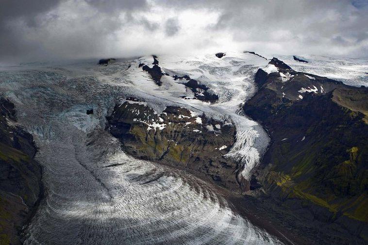 Svínafellsjökull glacier.