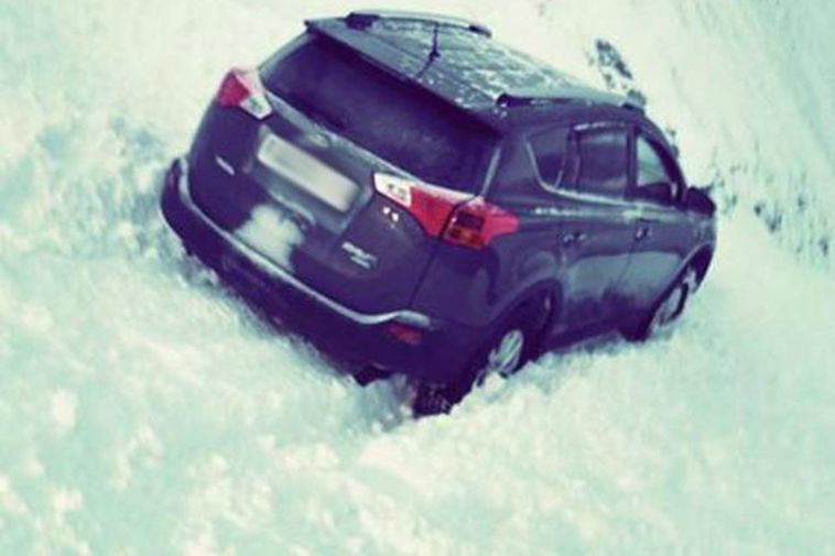 The car that was seconds away from being hit by the first avalanche, which you …