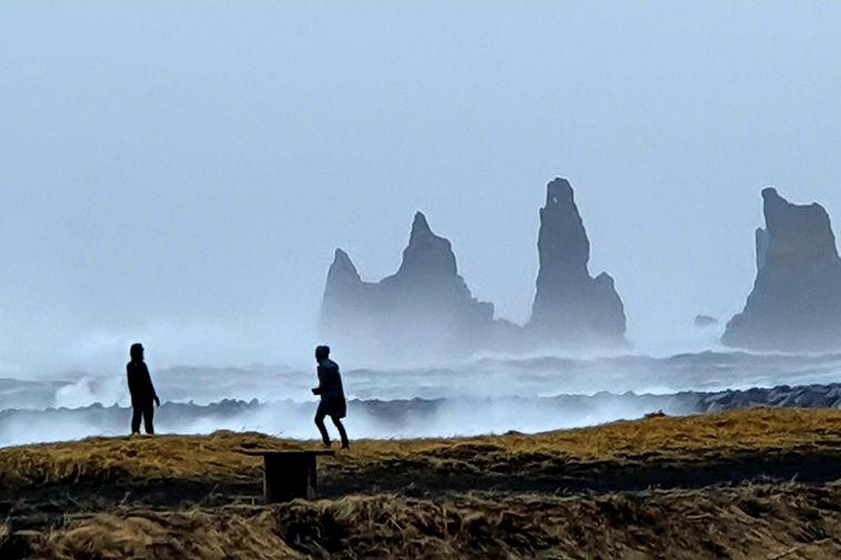 From Reynisfjara beach, near Vík í Mýrdal.