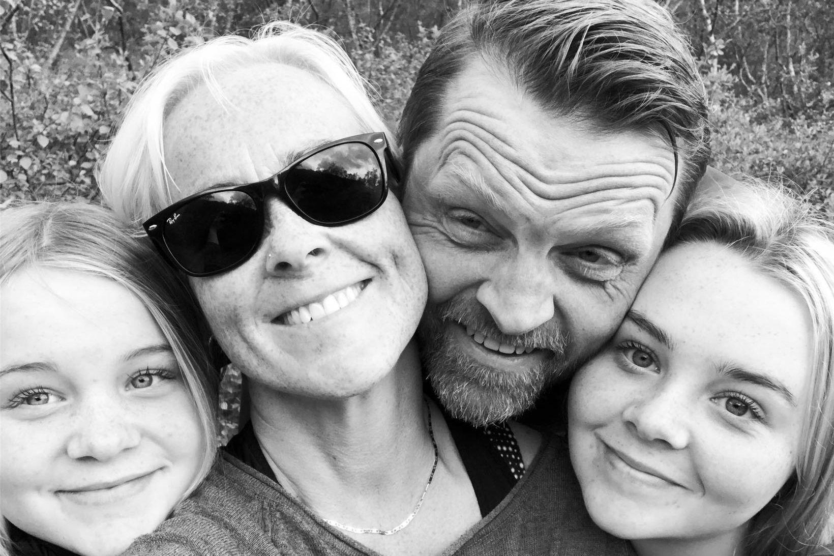 Sara Mjöll, Eva, Márus Arnarson og Jóna Mist. Eva segir …