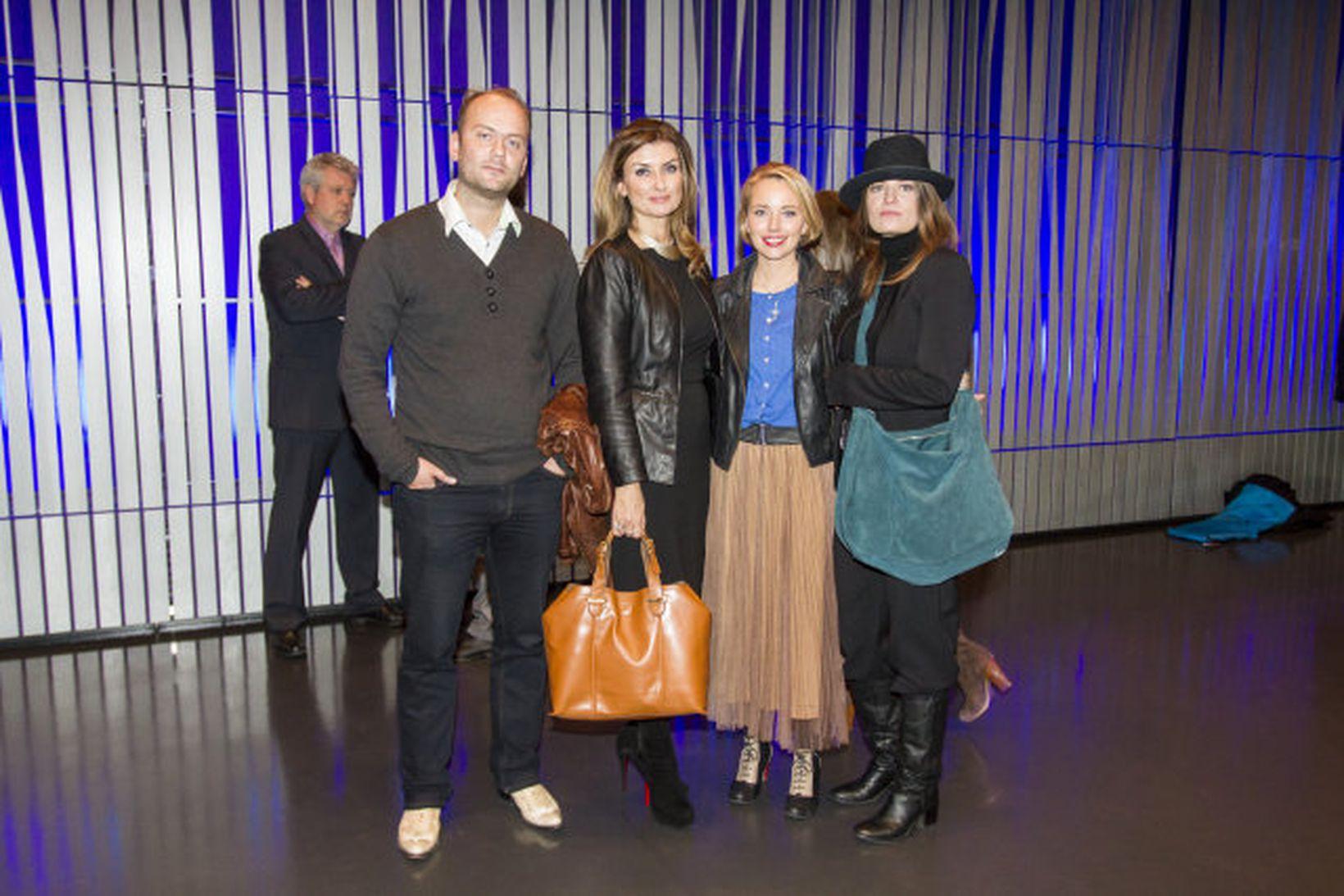 Einar Árnason, Linda P, Þóra Karítas og Filippía Elísdóttir.