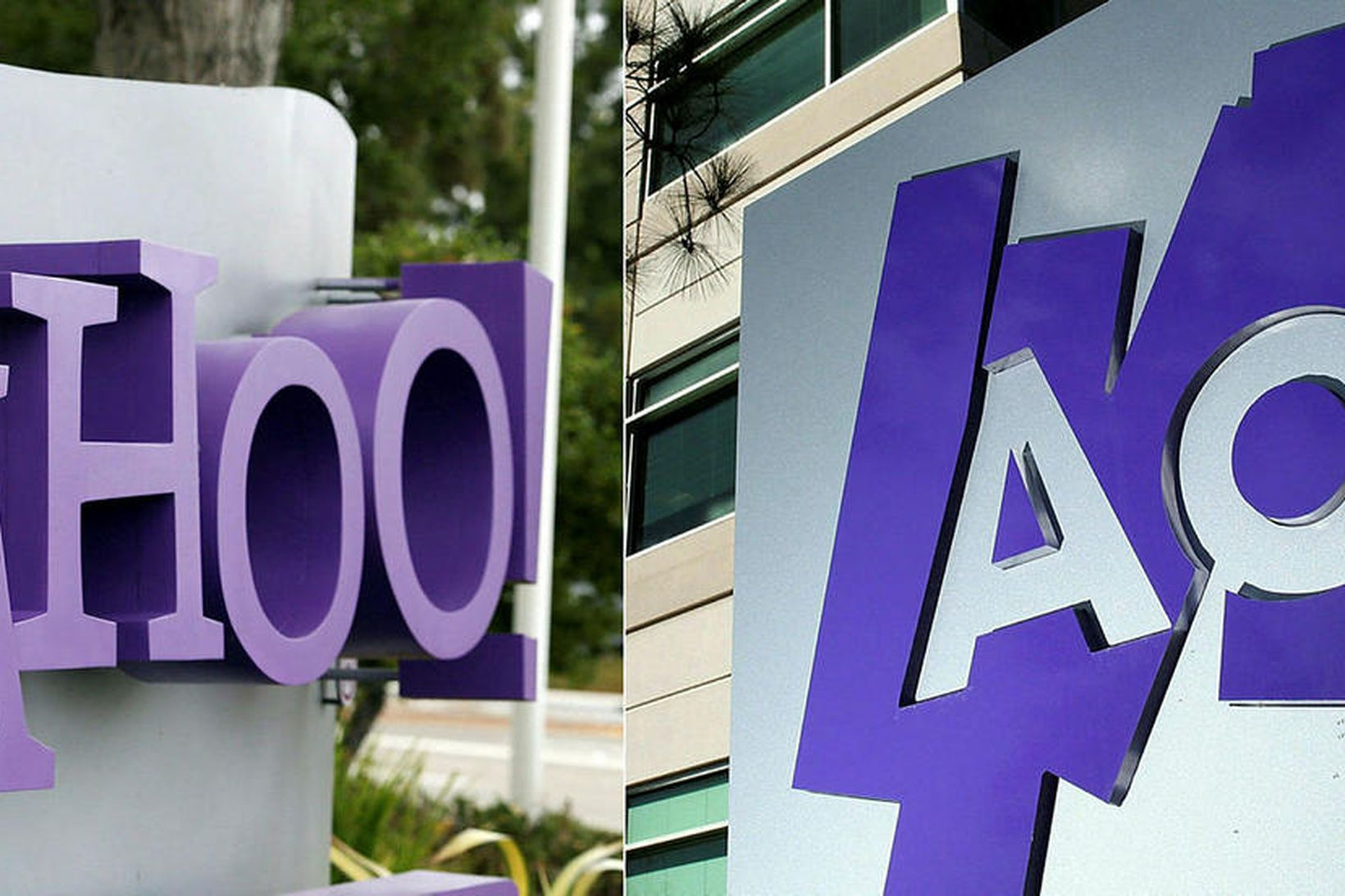 Netfyrirtækin Yahoo og AOL hafa mátt muna sinn fífil fegri.