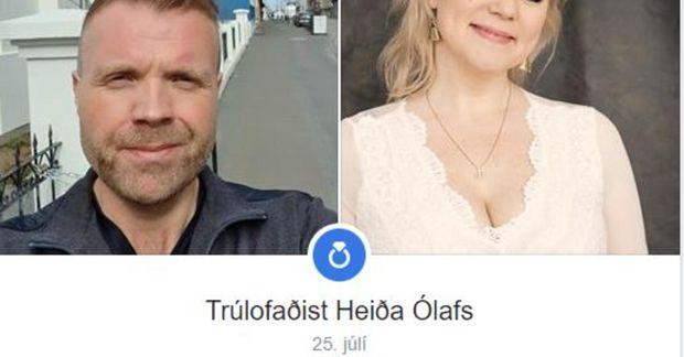 Helgi Páll Helgason og Heiða Ólafs trúlofuðu sig um helgina.