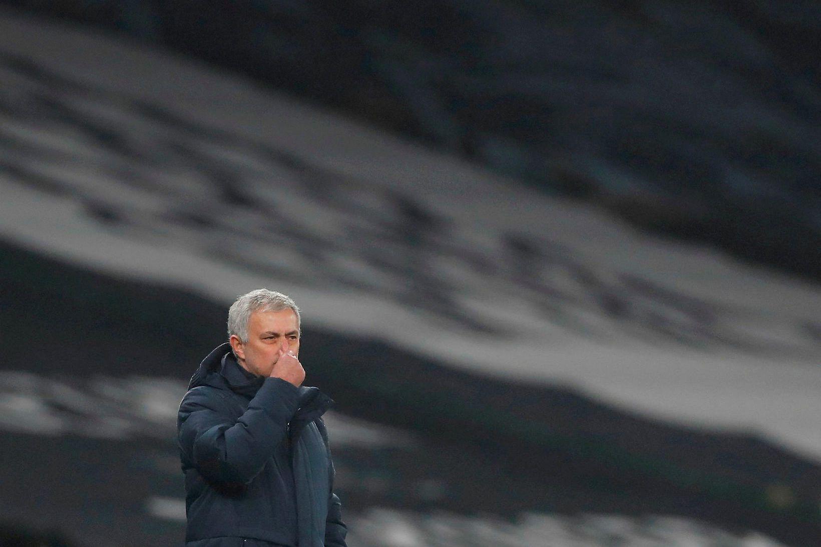 José Mourinho var pirraður eftir úrslit kvöldsins.