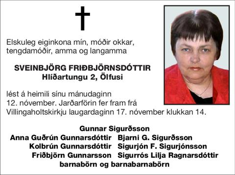 Sveinbjörg Friðbjörnsdóttir