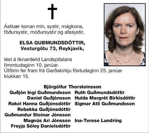 Elsa Guðmundsdóttir,