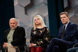 Logi Einarsson, Þórhildur Sunna Ævarsdóttir og Bjarni Benediktsson voru meðal gesta í Silfrinu á RÚV ...