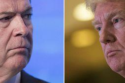 James Comey og Donald Trump hafa átt í orðastríði um hríð. Niðurstaða dómsmálaráðuneytis Bandaríkjanna að …