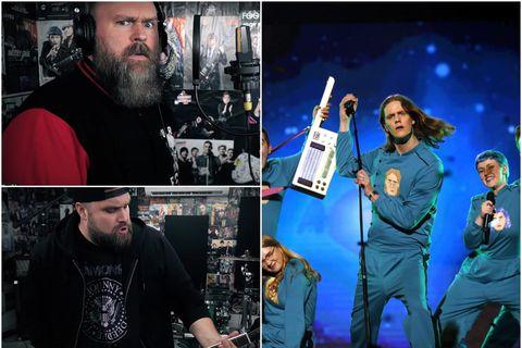 Flutningur Punk Rock Factory á Think About Things er heldur betur ólíkur upprunalegum flutningi Daða …