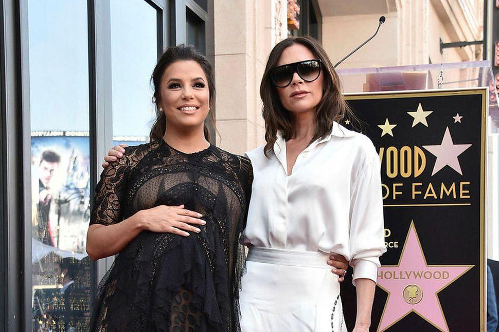Eva Longoria og Victoria Beckham eru góðar vinkonur.