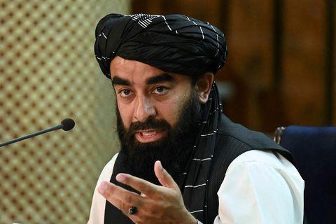 Zabihullah Mujahid, talsmaður talíbana.