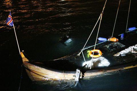 Reykjavik storm sinks Icelandic Viking ship