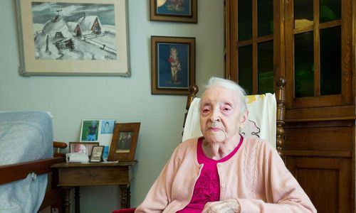 Guðrún Straumfjörð celebrates her birthday at the Sóltún nursing home where she will be indulging in cakes and coffee.