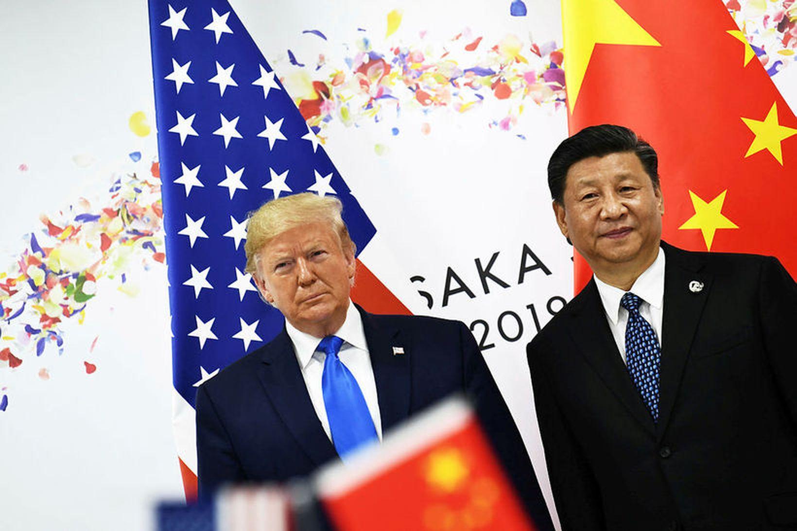 Donald Trump Bandaríkjaforseti og Xi Jinping Kínaforseti.