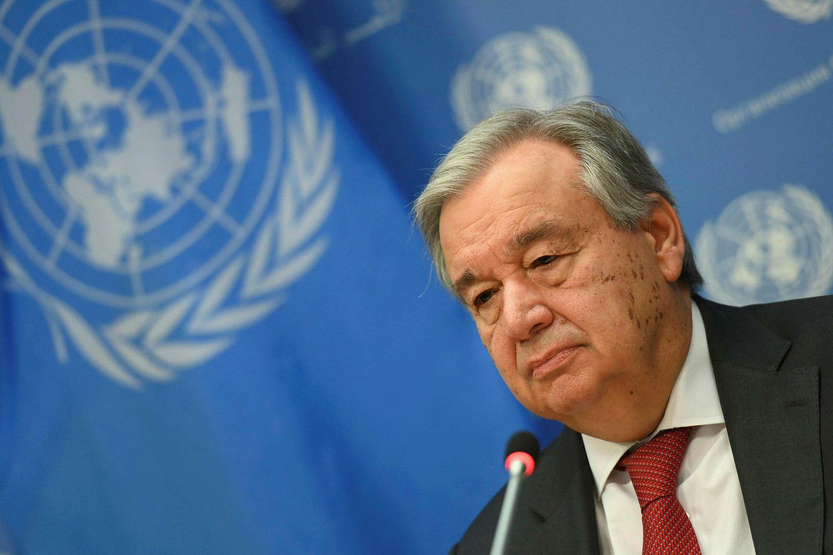 António Guterres, aðalframkvæmdastjóri Sameinuðu þjóðanna.