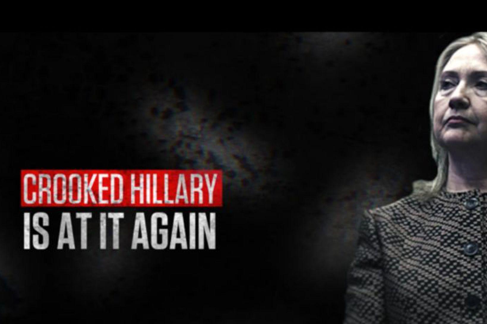 Auglýsingum um gjörspilla Hillary var dreift í gríð og erg …