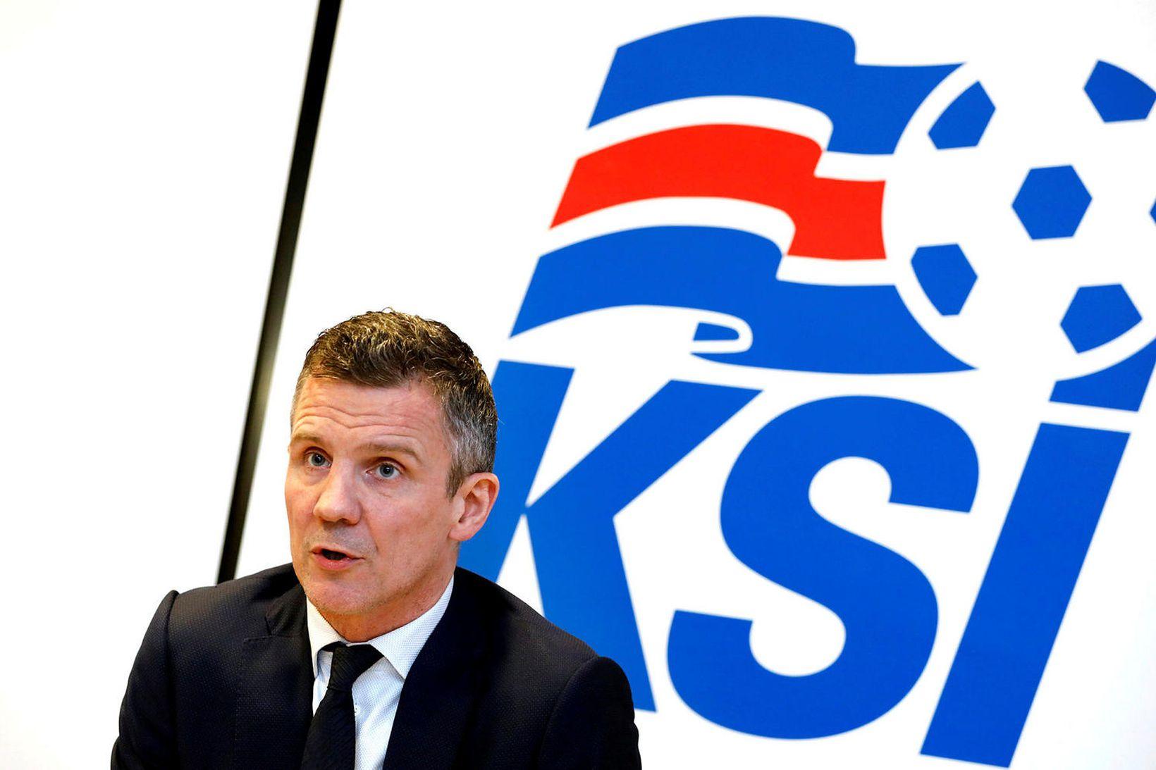 Guðni Bergsson er formaður KSÍ.