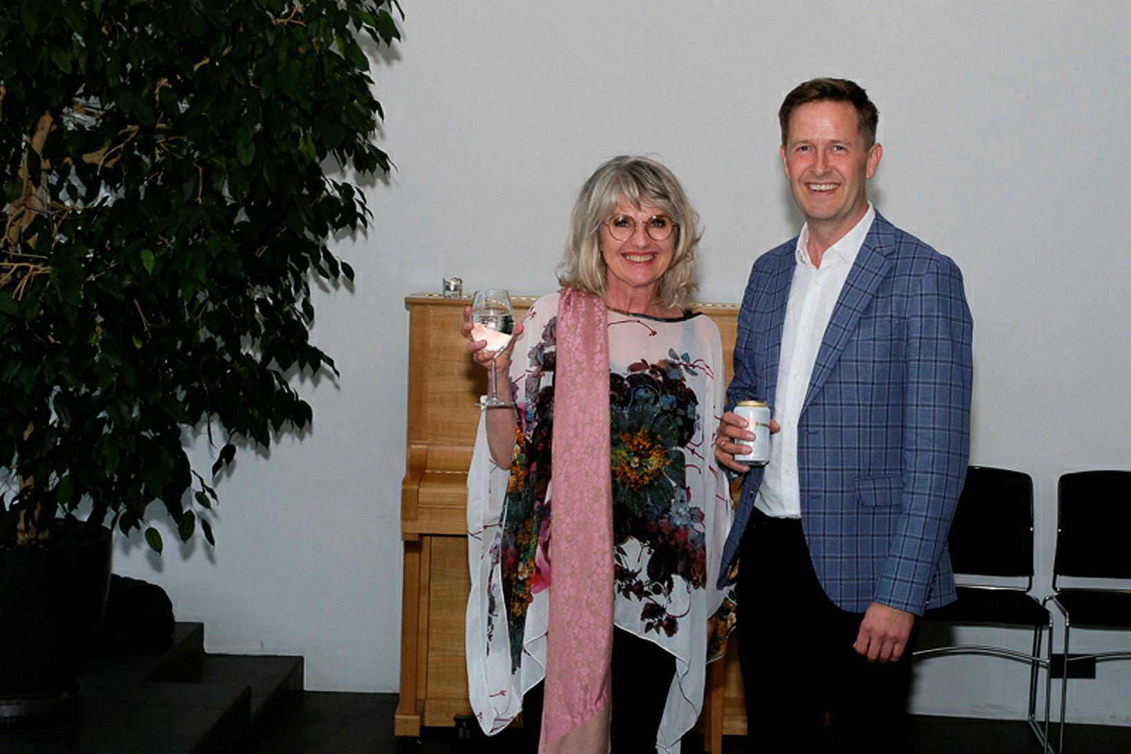 Edda Björgvinsdóttir og Gunnar Björn Guðmundsson.